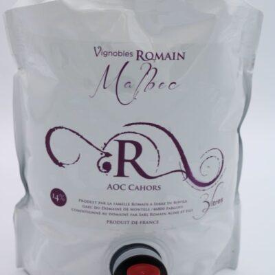 Cubi 3 litres vin rouge malbec du domaine de montels de l'épicerie primeur nos champs occitans à montuaban
