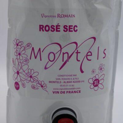 cubi 3 litres de rosés sec du domaine de montels de lépicerie primeur nos champs occitans à montauban