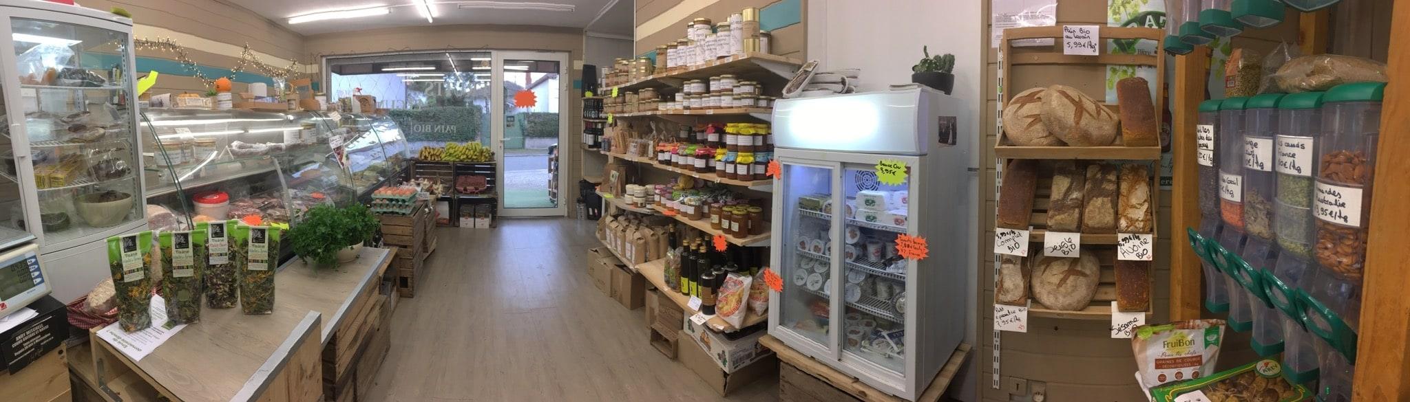 Intérieur du magasin Nos Champs Occitans