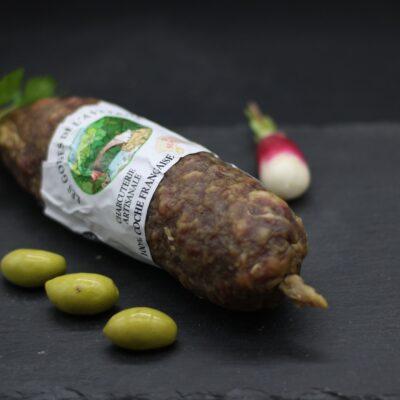Saucisson de l'aveyron de l'épicerie primeur nos champs occitans à montauban