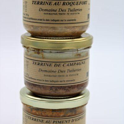 terrines de campagne de l'épicerie nos champs occitans à montauban