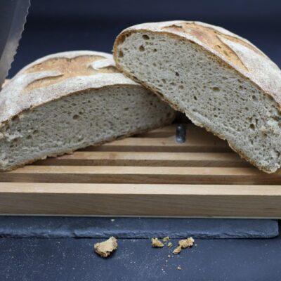 Demi pain bio de campagne de l'épicerie primeur nos champs occitans à montauban