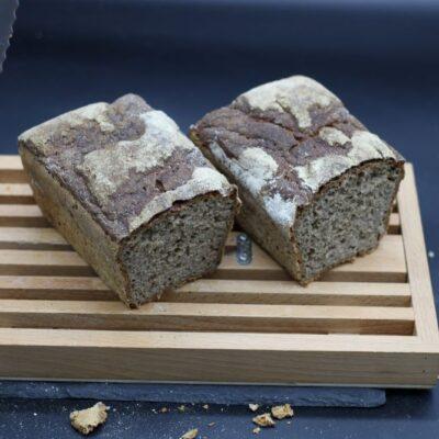 Demi pain de seigle bio de l'épicerie primeur nos champs occitans à montauban