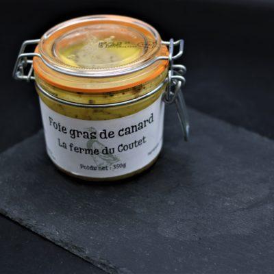 Foie gras en conserve de 350 gr de l'épicerie primeur nos champs occitans