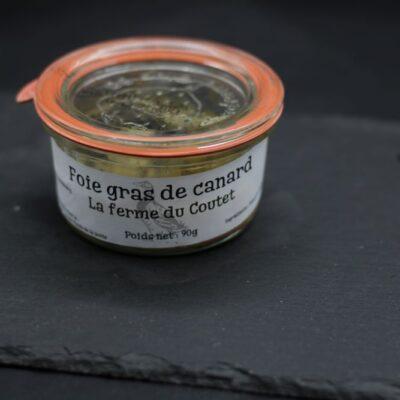 foie gras de canard en conserve de 90gr de l'épicerie primeur nos champs occitans à montauban