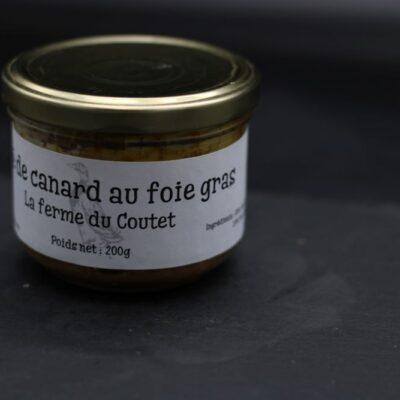 Pâté de canard au foie gras de l'épicerie primeur nos champs occitans à montauban