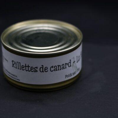 Rillettes de canard en conserve de 200 gr de l'épicerie primeur nos champs occitans à montauban