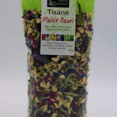 tisane artisanale plaisir fleuri de l'épicerie primeur nos champs occitans à montauban
