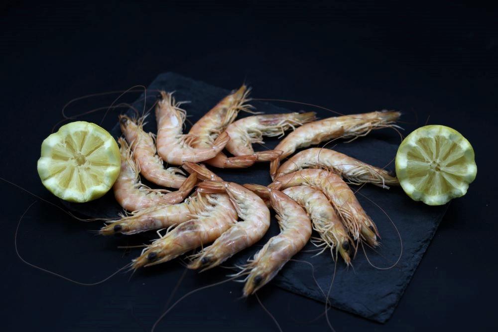 Crevettes cuites de l'épicerie primeur et drive nos champs occitans à montauban